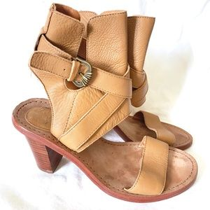 Ash Leather Heeled Sandals